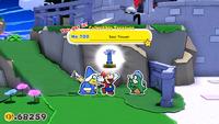 Mario collecting a Collectible Treasure of the Sea Tower
