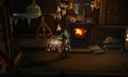 The Smokehouse segment from Luigi's Mansion: Dark Moon.