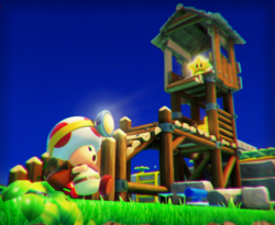 The illustration of Plucky Pass Beginnings in Captain Toad: Treasure Tracker.