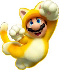 Artwork of Cat Mario from Super Mario 3D World.