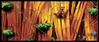 Concept art of Diddy Kong and Donkey Kong in a jungle-like area from Donkey Kong Country Returns.