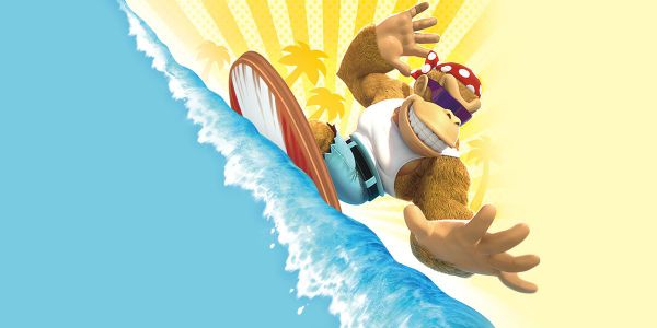Banner for a Play Nintendo opinion poll on Funky Kong's moves in the Nintendo Switch version of Donkey Kong Country: Tropical Freeze. Original filename: <tt>2x1-DKTF_poll_1.0290fa98.jpg</tt>