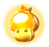 A Golden Mushroom from Mario Kart: Double Dash!! (This artwork is reused for Mario Kart DS)