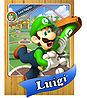 Level 1 Luigi card from the Mario Super Sluggers card game