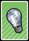 A Lightbulb Card in Paper Mario: Color Splash.