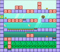 Level 6-1 map in the game Mario & Wario.