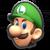 Luigi's icon from Mario Kart Tour.