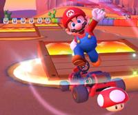 The icon of the Baby Luigi Cup challenge from the Mario vs. Luigi Tour in Mario Kart Tour