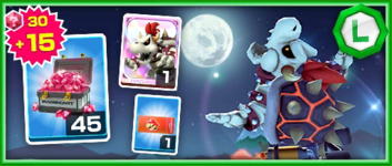 The Dry Bowser Pack from the Mario vs. Luigi Tour in Mario Kart Tour