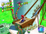 Mario going up on a Windmill in Down with Petey Piranha!