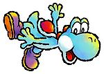 Artwork of Light Blue Yoshi from Yoshi Touch & Go