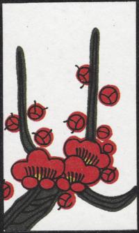 Fourth card of February in the Club Nintendo Hanafuda deck.