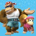 Option in a Play Nintendo opinion poll on which pair of Kongs to play as in the Nintendo Switch version of Donkey Kong Country: Tropical Freeze. Original filename: <tt>1x1_DKCTFSwitchPoll1_Funky_Dixie_v01.6ef5f3152e16d0ba.jpg</tt>