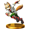 The Wii U version of the Fox trophy.