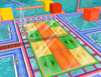 The Gooper Blooper Court as it appears in Mario Power Tennis