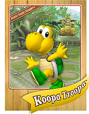 Level 1 Koopa Troopa card from the Mario Super Sluggers card game