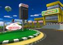The icon for Luigi Circuit, from Mario Kart Double Dash!!