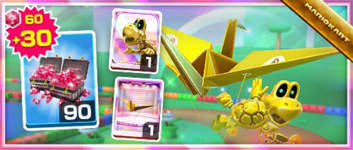 The Dry Bones (Gold) Pack from the 2021 Trick Tour in Mario Kart Tour