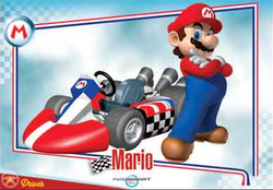 Mario Kart Wii trading card of Mario.
