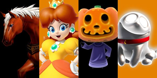 Banner for a Halloween Play Nintendo opinion poll on who to go trick-or-treating with. Original filename: <tt>2x1_HalloweenPoll02_v02.0290fa98.jpg</tt>