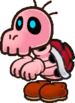 A Red Bones from Paper Mario: The Thousand-Year Door.