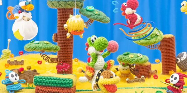 Yoshi's Woolly World wallpaper preview