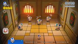 Chargin' Chuck Blockade is Back from World 5 in Super Mario 3D World.