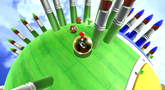 Mario on the Paintbrush Planet in the Rolling Masterpiece Galaxy