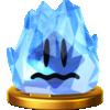 Freezie's trophy render from Super Smash Bros. for Wii U