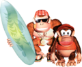 DKC Diddy Kong and Funky Kong Artwork.png
