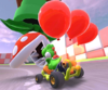 The icon of the Koopa Troopa Cup challenge from the Peach Tour and the Birdo Cup challenge from the Peach vs. Daisy Tour in Mario Kart Tour.