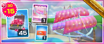 The Starry Great Sail Pack from the Sydney Tour in Mario Kart Tour