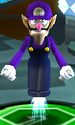 Waluigi using the Bullet Candy