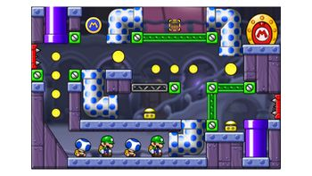 Miiverse screenshot of the 41st official level in the online community of Mario vs. Donkey Kong: Tipping Stars