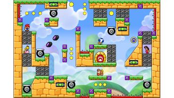 Miiverse screenshot of the 42nd official level in the online community of Mario vs. Donkey Kong: Tipping Stars
