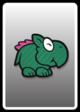 A Dino Rhino card from Paper Mario: Color Splash