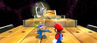 The Chimp giving Mario a Power Star