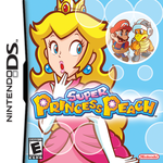 The front North American cover of Super Princess Peach