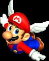 Artwork of Wing Mario in the original Super Mario 64.