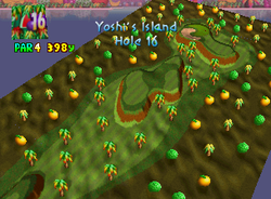 Hole 16 of Yoshi's Island from Mario Golf
