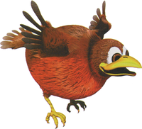 Artwork of a Booty Bird from Donkey Kong Country 3: Dixie Kong's Double Trouble!