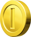 A Coin from Mario Kart 7.