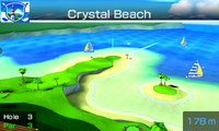 Hole 3 of Crystal Beach from Mario Sports Superstars