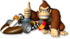 Artwork of Donkey Kong and his kart from Mario Kart Wii