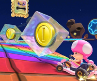 The icon of the Monty Mole Cup challenge from the 2020 Los Angeles Tour and the Iggy Cup challenge from the 2021 Paris Tour in Mario Kart Tour.