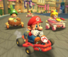 The icon of the Mario Cup challenge from the 1st Anniversary Tour in Mario Kart Tour