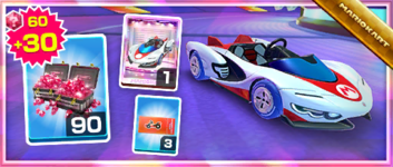 The P-Wing Pack from the Ice Tour in Mario Kart Tour