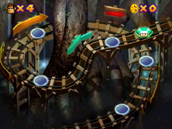 World 2 in the Mini-Game Coaster in the game Mario Party 2.