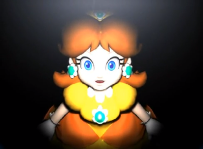 Snapshot of Daisy's Story Mode ending for Mario Party 4.