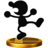 Mr. Game & Watch's trophy, from Super Smash Bros. for Wii U.